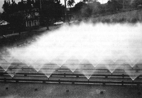 Sugar cooling spray ponds for Design of evaporation pond